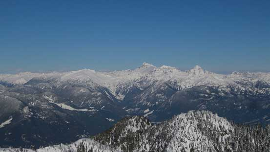 A panorama of Tantalus Range