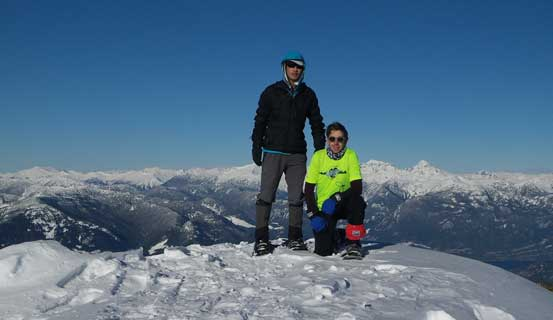 Al and I on the summit of Deeks Peak