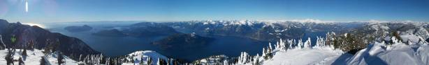 Panorama of Howe Sound from the last false summit. Click to view large size.