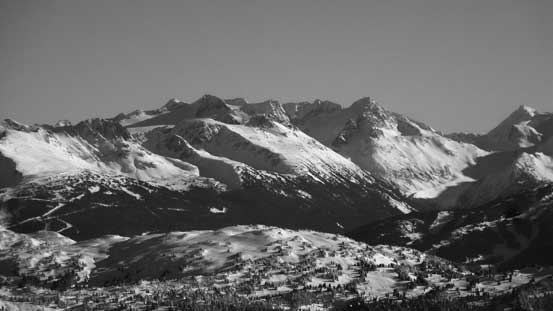 The Spearhead Range behind Blackcomb Peak