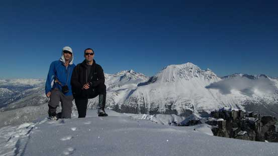 Vlad and myself on the summit of Phalanx Mountain