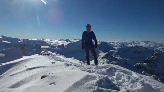 Me on the summit of Phalanx Mountain