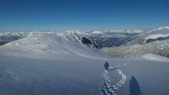 Plunging down Phalanx Glacier