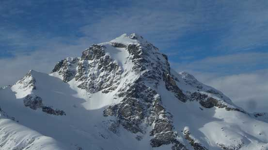 A zoomed-in view of Joffre Peak