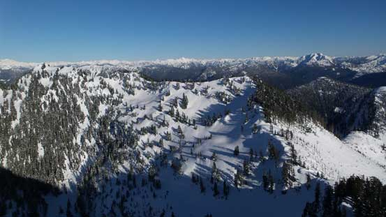 Looking down at Magnesia Meadows