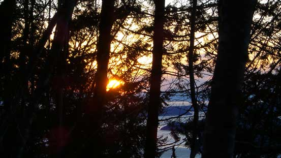 It's sunset time.. Down to the logging road now.