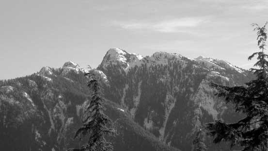 Mt. Seymour with Runner Peak on left and Tim Jones/Pump Peaks on right.