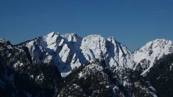 Crown Mountain/Spindle Peak massif