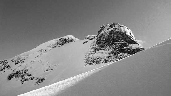 The impressive NW Face of Mt. Matier