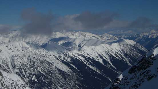 Peaks in the eastern Cayoosh Range by Downton Creek drainage