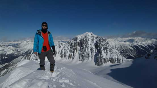 Me on the summit of Mt. Hartzell