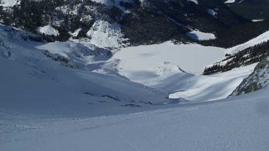 This is the big slope that I had to descend to upper Joffre Lake