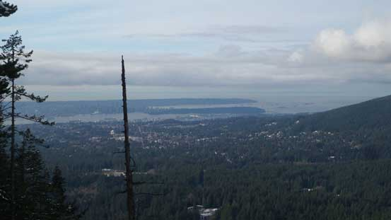 A zoomed-in view of the Lower Mainland