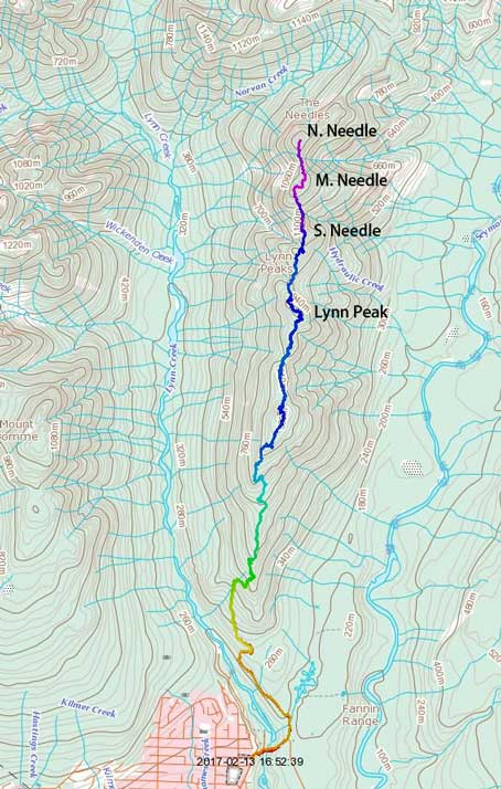 Lynn to Needles Traverse.